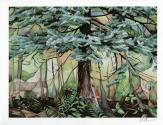 Forest scene watercolour painting